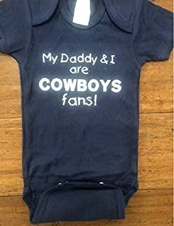 Dallas Cowboys baby shirt Cowboys infant bodysuit small (14-18lbs) one piece handmade