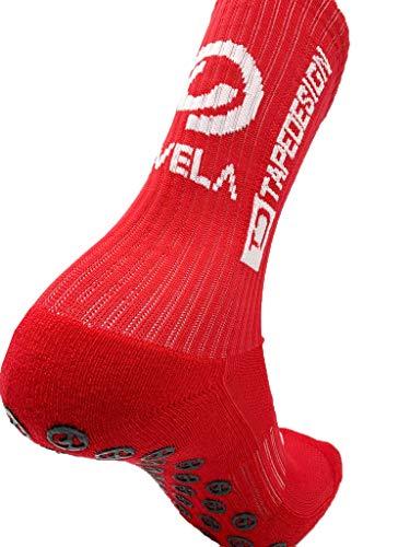 TIVELA TAPEDESIGN Allround Socks Edition. Die hochwertigen Anti Rutsch OneSize Socken Werden Schon von über 5000 Fussball Profis getragen. Spiele mit den Socken von Messi und Neymar. (rot)