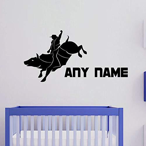 Geiqianjiumai Rodeo Stickers muurkunst aangepaste naam vinyl muursticker afneembare waterdichte kinderkamer muursticker muursticker