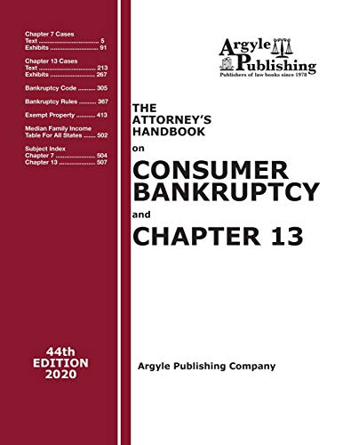Compare Textbook Prices for The Attorney's Handbook on Consumer Bankruptcy and Chapter 13  ISBN 9781880730577 by Argyle Publishing Company