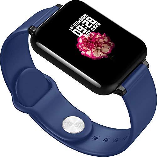 Yumanluo Smartwatch Impermeable,Pulsera Elegante Impermeable, Reloj-Azul de los Deportes de la supervisión de la presión Arterial del Ritmo cardíaco,Monitores de Actividad,Fitness Tracker