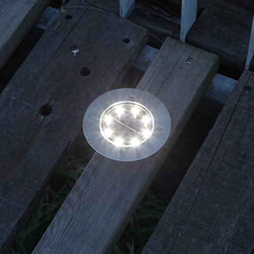 Uonlytech – Luz solar para suelo, para jardín, patio, terraza, camino, césped, entrada, camino