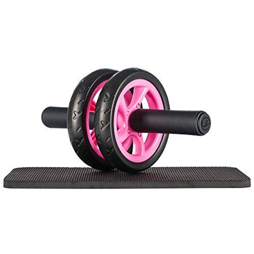 Ultrasport Bauchtrainer ab Wheel Platzsparender Bauchmuskeltrainer für Zuhause, Pink, OS