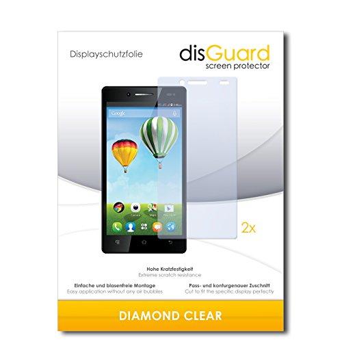 disGuard 2 x Bildschirmschutzfolie Haier Phone L50 Schutzfolie Folie DiamondClear unsichtbar