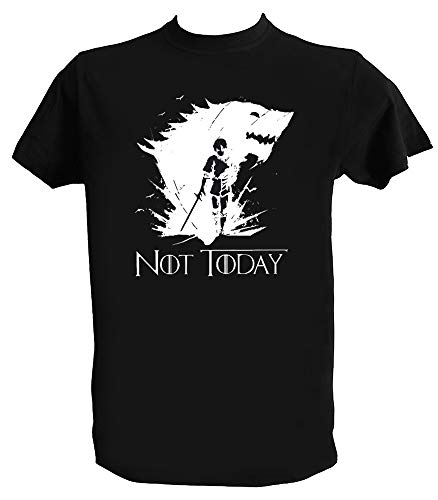 T Shirt Not Today Arya Homme Enfant Tee Shirt Game of Thrones Stark, Homme - M