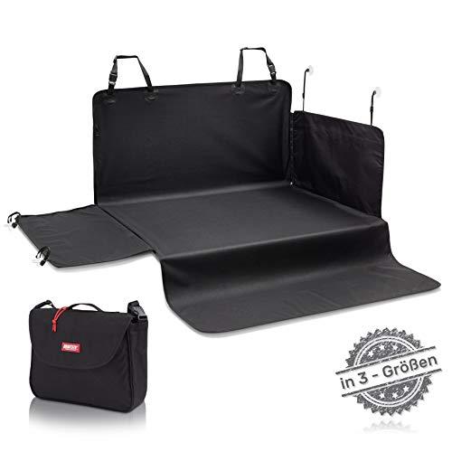 BARTSTR Hochwertiger Kofferraumschutz - 170 x 95cm - Ideale Hunde Kofferraumdecke mit Stoßstangenschutz für Kleinwagen - Auto Kofferraummatte Hund