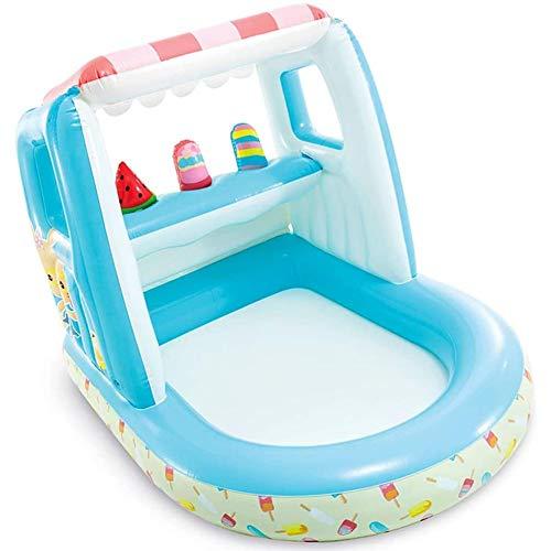 DSHUJC Kinder federnd Haus Pool, Indoor aufblasbares Spielzeug Pool, Kind-Zelt-Spiel-Spielzeug Haus aufblasbares Schloss, für Innen und Außen (Größe: 3,3 ft)