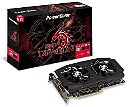PowerColor AMD Radeon RED DRAGON RX 580 8GB GDDR5 1 x DL DVI-D / 1 x HDMI / 3 x DisplayPort Graphics Card (AXRX 580 8GBD5-...