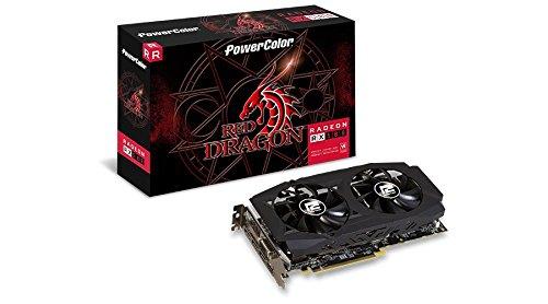 Gpu Amd Rx 580 8Gb Red Dragon, Power Color, Axrx 580 8Gbd5-3Dhdv2/Oc, Placas de Vídeo