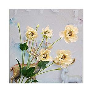 Wihgfcv Artificial Flowers 8 Heads/Branch Poppy Silk Artificial Flower Arrangement Bridesmaid Bouquets New Decoration Fake Flower Poppy Long Stem
