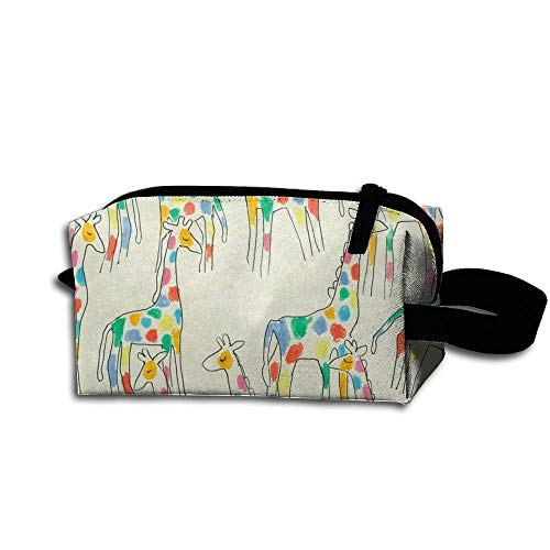 Rainbow Giraffes Travel Bag Printed Multifunction Portable Toiletry Bag Cosmetic Makeup Pouch Case Organizer for Travel.
