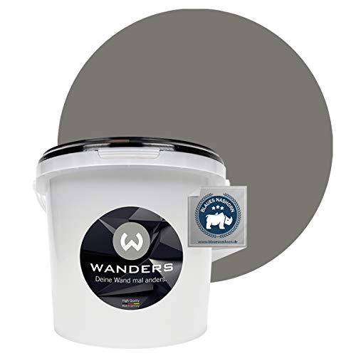 Wanders24 Pintura de pared pintura de pizarra mate (3 litros, Gris hormigón) lavable, creativo, escribible, pintura de pizarrón