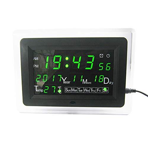WSFANG DIY-elektronisches Kit. DC9-12V Elektronische Kalender Lötkit Hohe Präzision DIY Clock Kit ECL-1227 12/24 Stunden C/F Umschaltung 1 Stück (Color : Green)