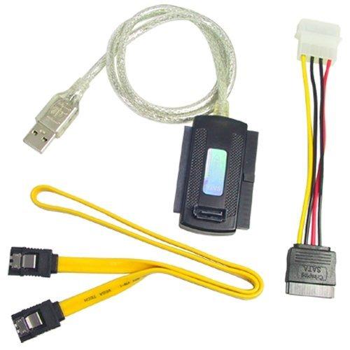 amazplu - Cable adaptador USB 2.0 a IDE/SATA 2.5 + 3.5 +...
