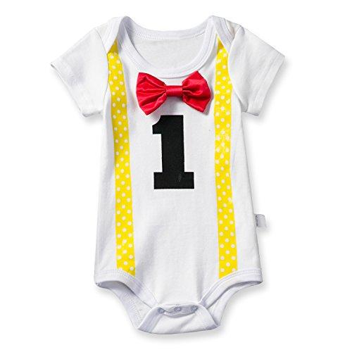 TTYAOVO Body para Bebé Body Niños Niñas Unisex 1 Año Amarillo