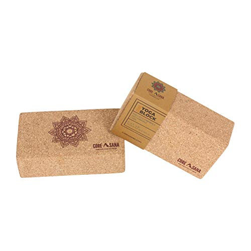 Cork Yoga Block | Yoga Exercise & Support Props | Eco Yoga Brick | Fitness Blocks for Studios | Gifts for yoga lovers | Light yoga block