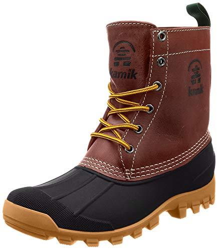 Kamik Yukon 6 Men Round Toe Leather Brown Hunting Boot (8 D(M) US, Dark Brown)