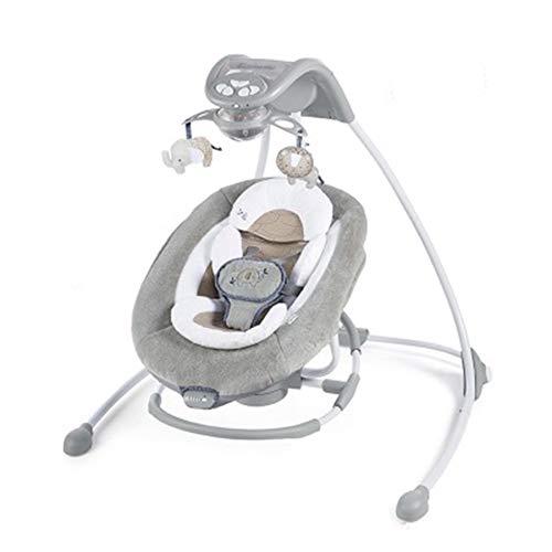 YHM Coax Baby Artifact Baby BB, Cuna Eléctrica Inteligente con Bluetooth, Tela Transpirable Y Absorbente De Sudor Agradable para La Piel, Cuidado De La Columna Vertebral del Bebé,Dark Gray