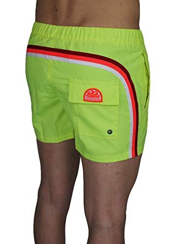 Sundek Herren Original – BS/RB – Elastic Waist Shorts für Meer (XXL, Gelb Wow #8)
