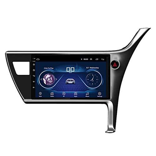 ZHANGYY Unidad Principal estéreo con Radio de Coche Android 8.1 de 10.1 Pulgadas Compatible con Toyota Corolla 2017-2018, navegación GPS/Bluetooth/FM/RDS/Control del Volante/cámara Trasera