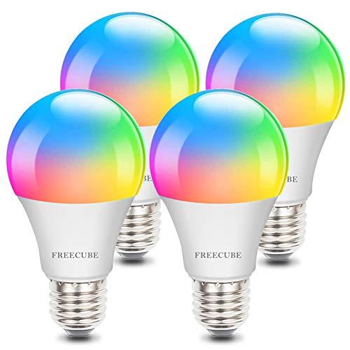 Smart Light Bulbs, Alexa Light Bulb E26 8W Dimmable RGBW Color Changing Light Bulb Work with Alexa &...