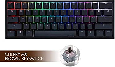 Ducky One 2 Mini RGB LED 60% Double Shot PBT Mechanical Keyboard (Cherry MX Brown)