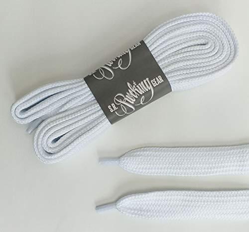 Rocking Gear Phat Laces extra breite Schnürsenkel (Weiß/White)