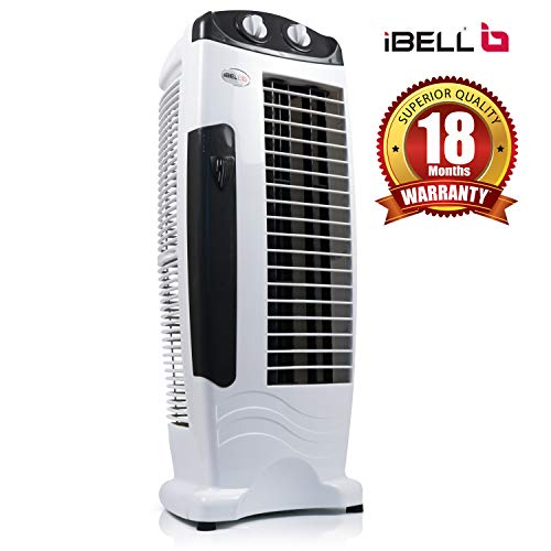 iBELL DELUXE Tower Fan with 25 Feet Air Delivery, 4-Way Air Flow, High Speed,Anti Rust Body (Black)