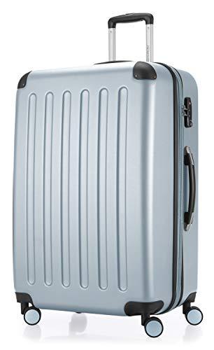 HAUPTSTADTKOFFER - Spree - Hartschalen-Koffer Koffer Trolley Rollkoffer Reisekoffer Erweiterbar, 4 Rollen, TSA, 75 cm, 119 Liter, Pool blau