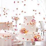 XCOZU 1500 Stück Konfetti Rosa, 1cm Rosegold Konfetti Papier für Hochzeit Valentinstag Tischdeko Geburtstag Party, Rund Seidenpapier Tisch Konfetti für Ballons 30g - 6