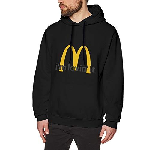 N / A Mcdonalds Herren Kapuzen-Sweatshirt Langarm Baumwolle Bequem Und Weich Pullover T-Shirt 3XL