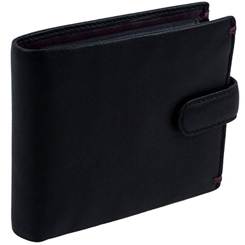 visconti leather mens tabbed wallet