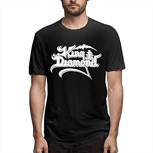 Fournyaa Ki-Ng Di-Amond Men Classic Breathable Crew T Shirt Comfortable Short Sleeve Tee Men's Casual Tunics Black