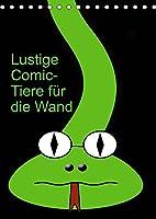 Lustige Comic-Tiere fuer die Wand (Tischkalender 2022 DIN A5 hoch): Comicfiguren (Monatskalender, 14 Seiten )