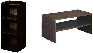 ClosetMaid 8985 Stackable 3-Shelf Organizer, Espresso & 8995 Stackable 24-Inch Wide Horizontal Organizer, Espresso
