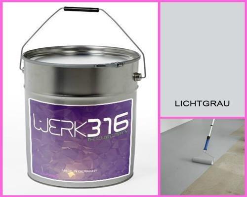 6,75€/L - 20L Bodenbeschichtung Betonfarbe Bodenfarbe Bodenversiegelung Garagenfarbe Lichtgrau