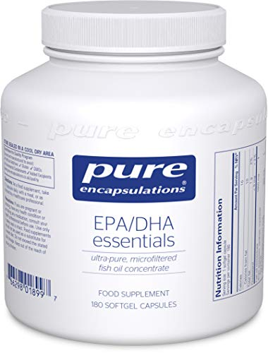 Pure Encapsulations - EPA/DHA Essentials - Ultra-Pure, Microfiltered Fish Oil Concentrate - 180 Softgel Capsules