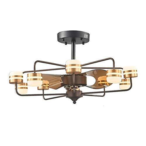 XHJZ-W Ventilator-Licht ABS Silent-Fernbedienung Chandelier Stealth 6-Speed Shift Deckenventilator Geeignet für Schlafzimmer Küche Balkon