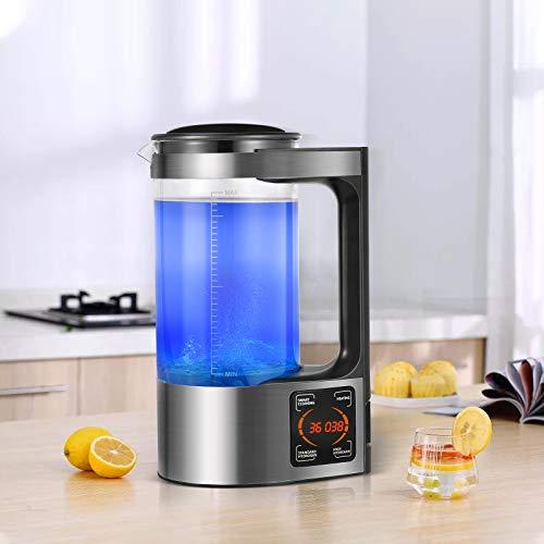 TTLIFE 2L Machine à Bouteille d'eau riche en hydrogène de grande capacité Générateur d'ions d'eau portable Générateur d'eau d'hydrogène avec thermostat Affichage à LED à commande tactile numérique