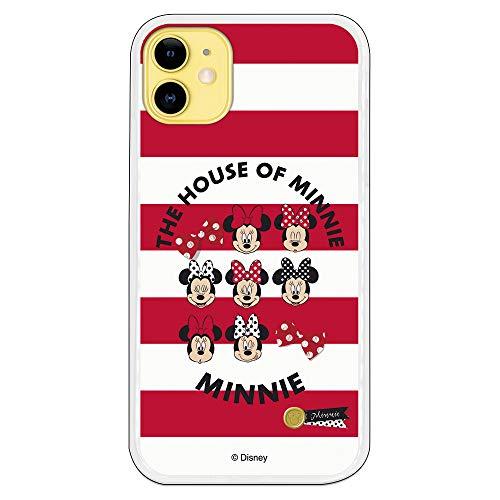 Funda para iPhone 11 Oficial de Clásicos Disney Minnie House of Minnie para Proteger tu móvil. Carcasa para Apple de Silicona Flexible con...