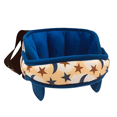 Almohadas de viaje, soporte ajustable para la cabeza del asiento de automóvil para niños pequeños, soporte para la cabeza de seguridad para niños, para asiento de bebé y avión de aire (azul)