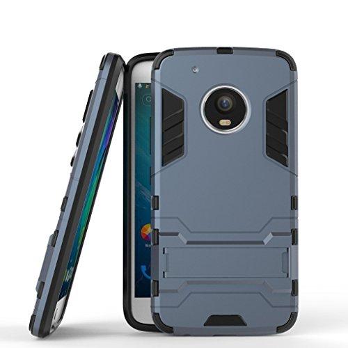 Funda para Motorola Moto G5 Plus (5,2 Pulgadas) 2 en 1 Híbrida Rugged Armor Case Choque Absorción…