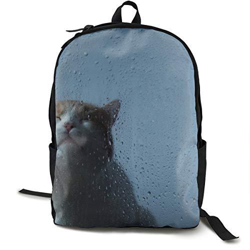 Rucksack mit Katzenmotiv aus Glas, Schulrucksack, Schulranzen, Büchertasche, Reisen, Laptoprucksack für Kinder, Studenten, Erwachsene