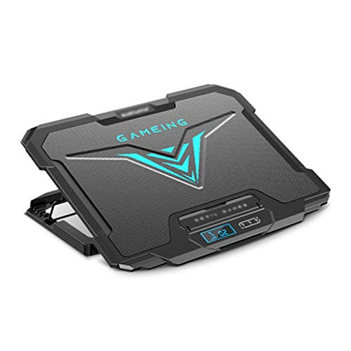 Laptop Cooling Pad The Most Powerful Rapid Action Cooling Fan - Laptop Stand with 4 Laptop Cooler - USB Fan - New 2020 Version Laptop Cooler (Color : Black, Size : Upgraded version)