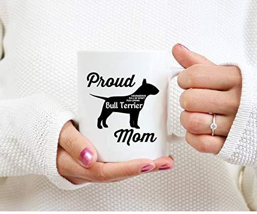 N\A Orgulloso Bull Terrier Taza de mamá Regalos de Bull Terrier Bull Terrier Taza de café Taza Bull Terrier Perro Bull Terrier Regalos de mamá Regalos de Bull Terrier