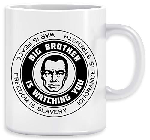 Freedom is slavery - Ignorance is strength - War is peace - George Orwell, 1984 - Orwell Taza Ceramic Mug Cup
