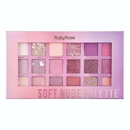 Paleta De Sombra Soft Nude Ruby Rose Hb 1045