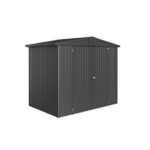 BioHort Europa Size 7 10x10 Metal Garden Shed Dark Grey