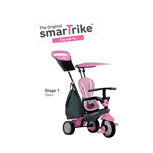 SMARTRIKE - Triciclo Shine, Color Rosa