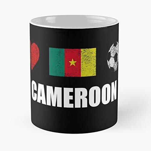 Cameroonian Team Support Jersey Football Soccer I Cameroon Love Best 11 Ounce Ceramic Coffee Mug Gift